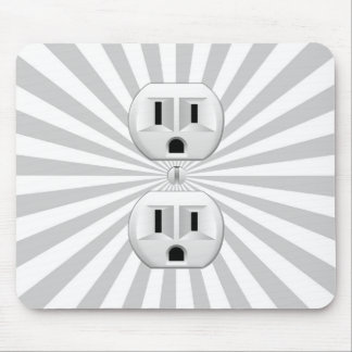 Electric Plug Wall Outlet Fun Customize This! Mouse Pad