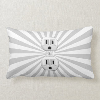 Electric Plug Wall Outlet Fun Customize This! Pillow