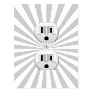 Electric Plug Wall Outlet Fun Customize This! Postcard