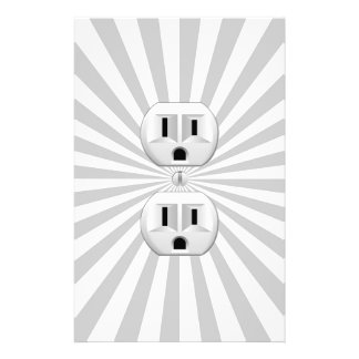 Electric Plug Wall Outlet Fun Customize This! Stationery