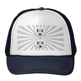 Electric Plug Wall Outlet Fun Customize This! Trucker Hat