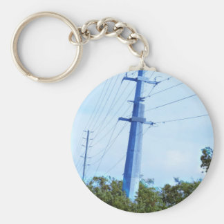 Electric Pole Bridge Skyview Jungle Colorful GIFTS Keychains