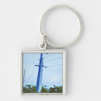 Electric Pole Bridge Skyview Jungle Colorful GIFTS Keychain