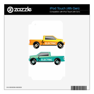 Electric power pickup decals for iPod touch 4G