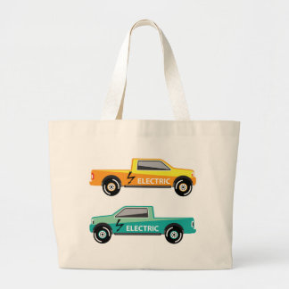 Electric power pickup large tote bag