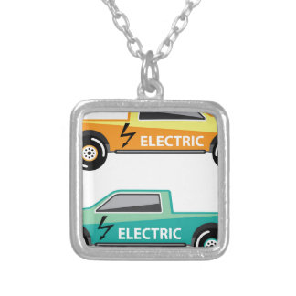 Electric power pickup silver plated necklace
