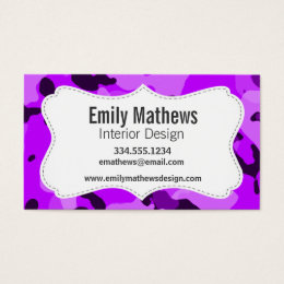 Camouflage business cards templates zazzle electric purple camo camouflage business card colourmoves
