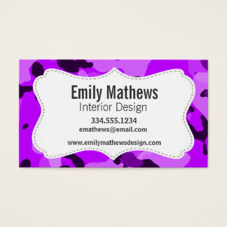 Electric Purple Camo; Camouflage Business Card