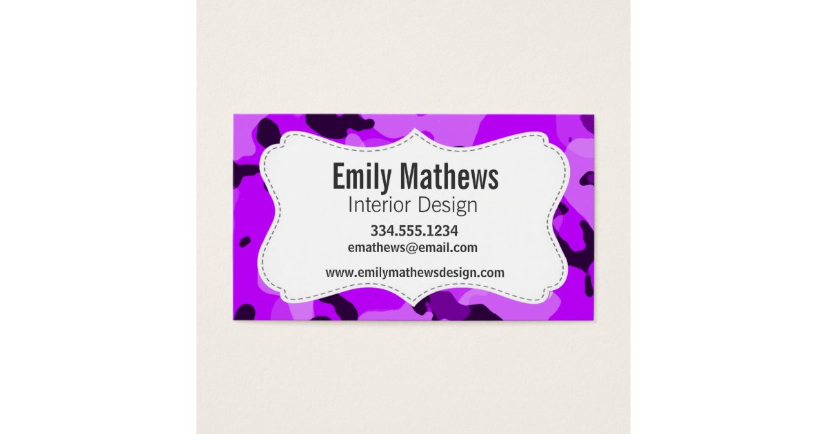 Wonderful Camouflage Business Cards Photos - Business Card Ideas ...