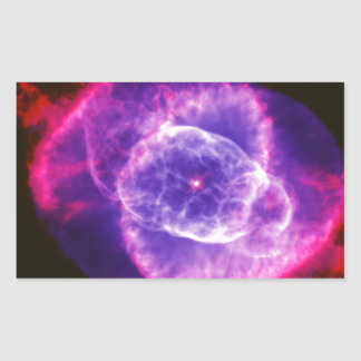 Electric Purple Cat's Eye Nebula Ngc 6543 Space Rectangular Sticker