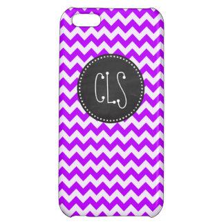 Electric Purple Chevron; zigzag; chalkboard Cover For iPhone 5C