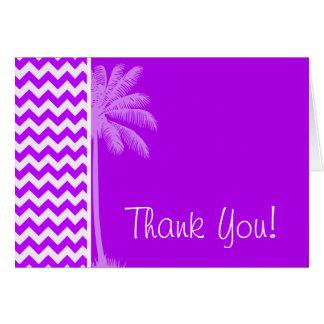 Electric Purple Chevron; zigzag; Palm Card