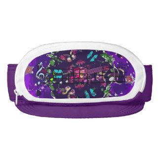 Electric Purple Colorful Flowers & Music Cap Sac