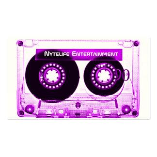 Electric Purple Mixtape Business Card Template