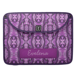 electric purple spiral wing MacBook 15in Name MacBook Pro Sleeve