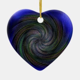 Electric Purple Swirl.jpg Ceramic Ornament