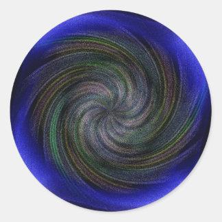 Electric Purple Swirl.jpg Classic Round Sticker