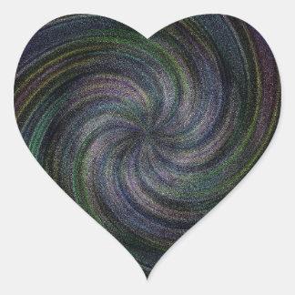 Electric Purple Swirl.jpg Heart Sticker