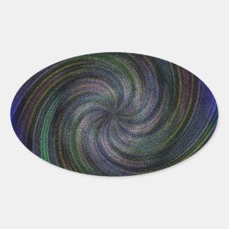 Electric Purple Swirl.jpg Oval Sticker
