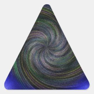 Electric Purple Swirl.jpg Triangle Sticker