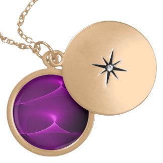 Electric Purple Swirls Necklace