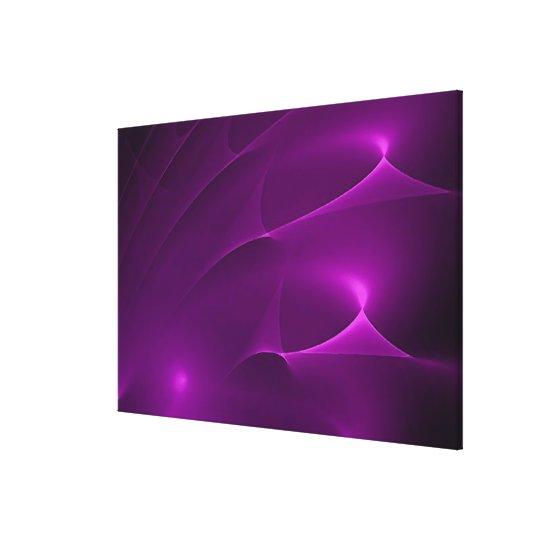 "Electric Purple Swirls Wrapped Canvas 48X32"""