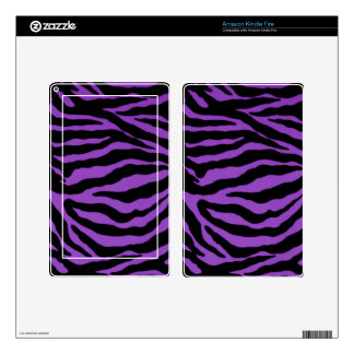 Electric Purple Tiger Skin for Kindle Fire