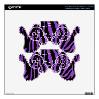 Electric Purple Tiger Striped Controller Skins PS3 Controller Skin