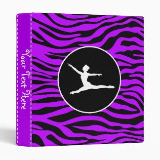 Electric Purple Zebra Stripes; Ballet Binder