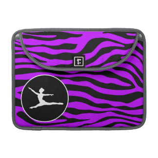 Electric Purple Zebra Stripes; Ballet Sleeve For MacBook Pro