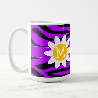 Electric Purple Zebra Stripes; Daisy Coffee Mug