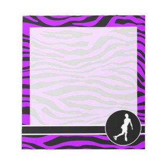 Electric Purple Zebra Stripes; Figure Skating Notepad