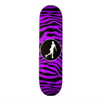 Electric Purple Zebra Stripes; Figure Skating Skate Board Deck