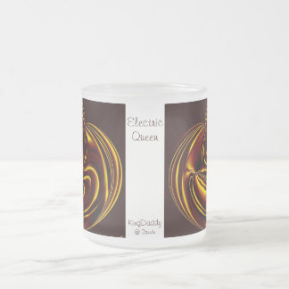 Electric Queen Frosted Glass Mug