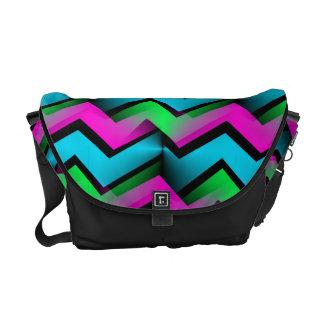 Electric Rainbow Messenger Bag