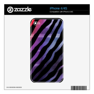Electric Rainbow Psychedelic Tiger Skins Skins For iPhone 4S