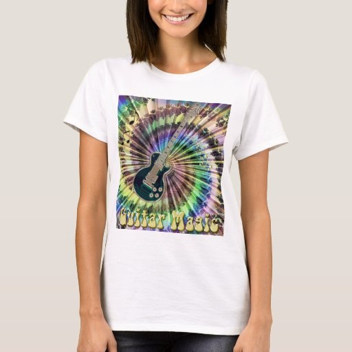 Electric Rainbow Tie-Dye Guitar T-shirt