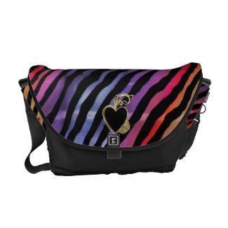 Electric Rainbow Tiger Love ~ Messenger Bag