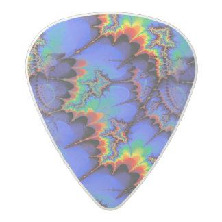 Electric Rainbow Waves Fractal Art Pattern Acetal Guitar Pick