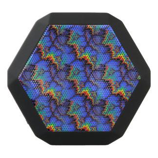 Electric Rainbow Waves Fractal Art Pattern Black Bluetooth Speaker