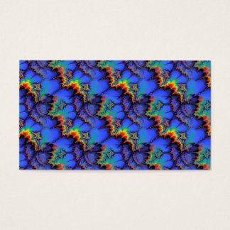 Electric Rainbow Waves Fractal Art Pattern Business Card