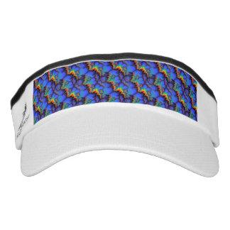Electric Rainbow Waves Fractal Art Pattern Headsweats Visor