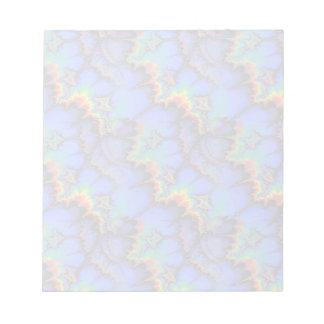 Electric Rainbow Waves Fractal Art Pattern Notepad