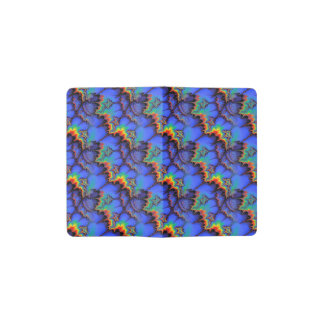 Electric Rainbow Waves Fractal Art Pattern Pocket Moleskine Notebook