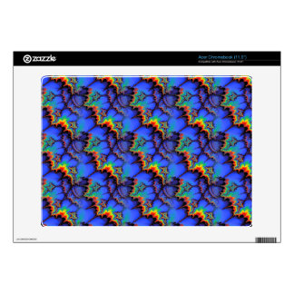 Electric Rainbow Waves Fractal Art Pattern Skin For Acer Chromebook
