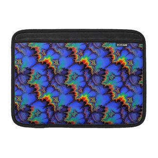 Electric Rainbow Waves Fractal Art Pattern Sleeve For MacBook Air