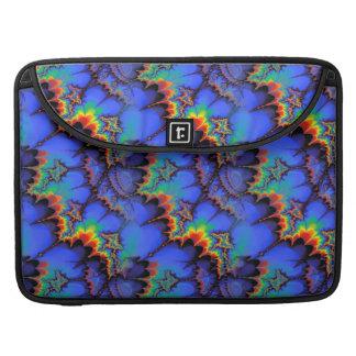 Electric Rainbow Waves Fractal Art Pattern Sleeve For MacBook Pro