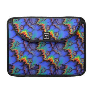 Electric Rainbow Waves Fractal Art Pattern Sleeve For MacBooks