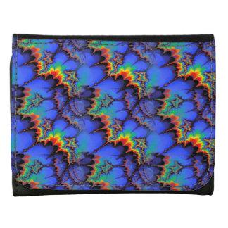 Electric Rainbow Waves Fractal Art Pattern Wallets