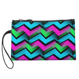 Electric Rainbow Wristlet Wallet